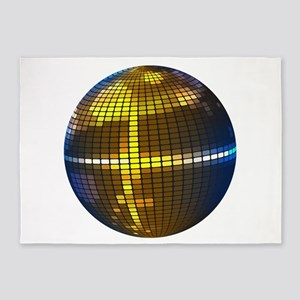 Disco Ball 5'x7'Area Rug